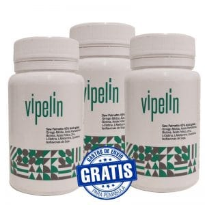 3 botes de Vipelin con Saw Palmetto