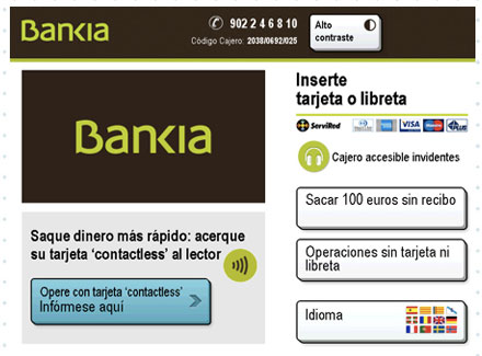 Bankia paso 1 Ingreso Cajero Transferencia Bancaria