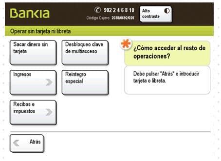 Bankia paso ingreso cajero vipelin