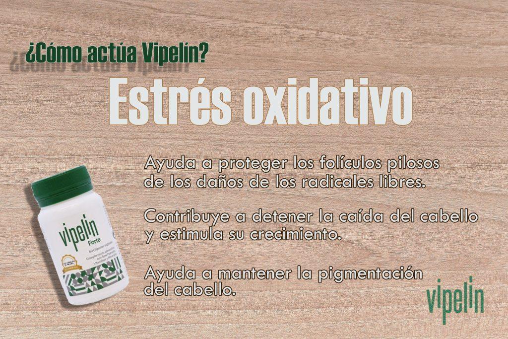 Causas alopecia. Estrés oxidativo. Propiedades de Vipelín para combatir los radicales libres.